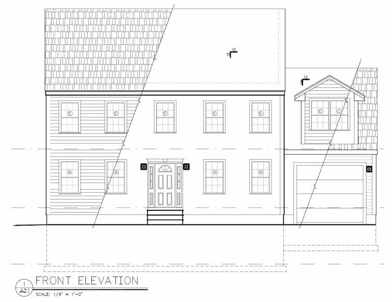 14 Heritage Court Front Elevation Plan